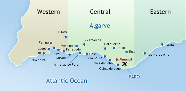 Algarve Map Old Almancil Portugal Pinterest Algarve And - Portugal map algarve region